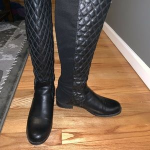 Unisa Quilted over the knee boots